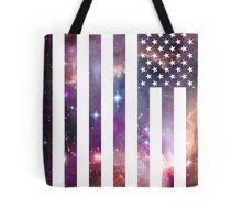 American Flag Galaxy Tote Bag