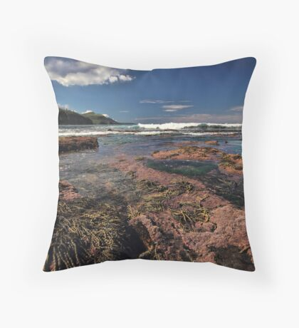 Low Tide Colours Throw Pillow