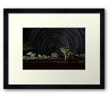 Star trails, Eco resort camp Karijini Framed Print