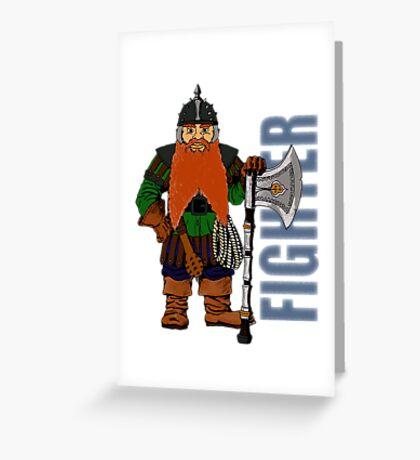 Dwarf Fighter Greeting Card