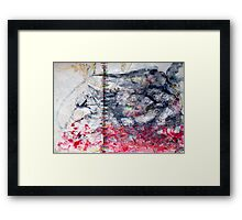 from White to Red through Black: ZEEP-IT ! Framed Print