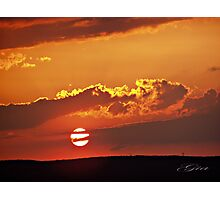 """""""Sunset In Fall"""" Photographic Print"""
