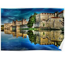 Reflections from a majestic Castle HDR Poster