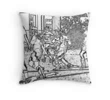 110612 392 pen sketch soccer s Throw Pillow