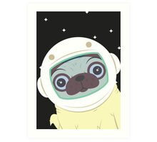 Pug in Space Art Print