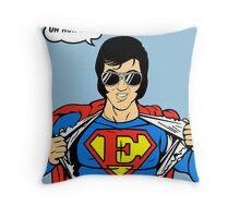 Superman Super Elvis Presley  Throw Pillow