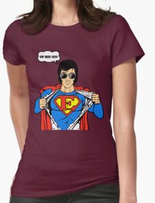 Superman Super Elvis Presley  Womens Fitted T-Shirt