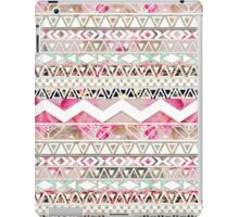 Girly Pink White Floral Abstract Aztec Pattern iPad Case/Skin