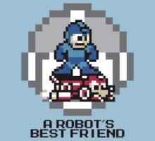 Megaman Riding Jet Rush (Black Text) Kids Clothes