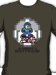Megaman Riding Jet Rush (Black Text) T-Shirt