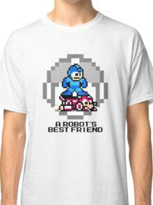 Megaman Riding Jet Rush (Black Text) Classic T-Shirt
