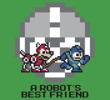 Megaman walking Rush (Black Text) Kids Tee