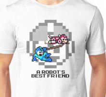 Rush dragging Megaman (Black Text) Unisex T-Shirt