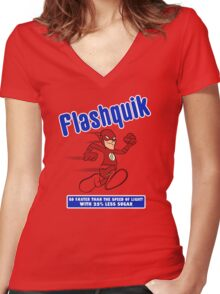 Flashquik Women's Fitted V-Neck T-Shirt