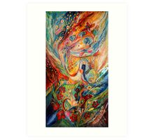 The Angels on Wedding triptych (central) Art Print