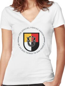 3rd Special Forces Group Women's Fitted V-Neck T-Shirt