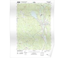 USGS TOPO Map New Hampshire NH Franklin 20120608 TM Poster