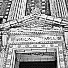 """The Masonic Temple"" Wilkes-Barre, Pennsylvania by Gail Jones"