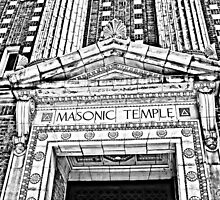 """The Masonic Temple"" Wilkes-Barre, Pennsylvania by Gail Jones"
