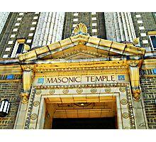 """The Masonic Temple"" Wilkes-Barre, Pennsylvania II Photographic Print"