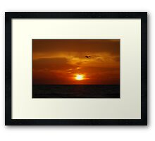 TREASURE ISLAND SUNSET Framed Print