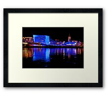 Ars Electronica And The Danube Framed Print