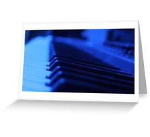 Black Light Keyboard Greeting Card