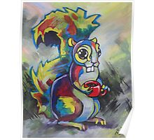 Coffee Squirrel 2 Poster