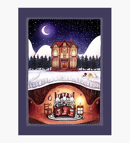 Christmas in the Burrow Photographic Print