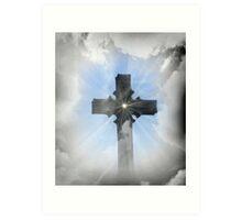 Heavenly Cross Art Print