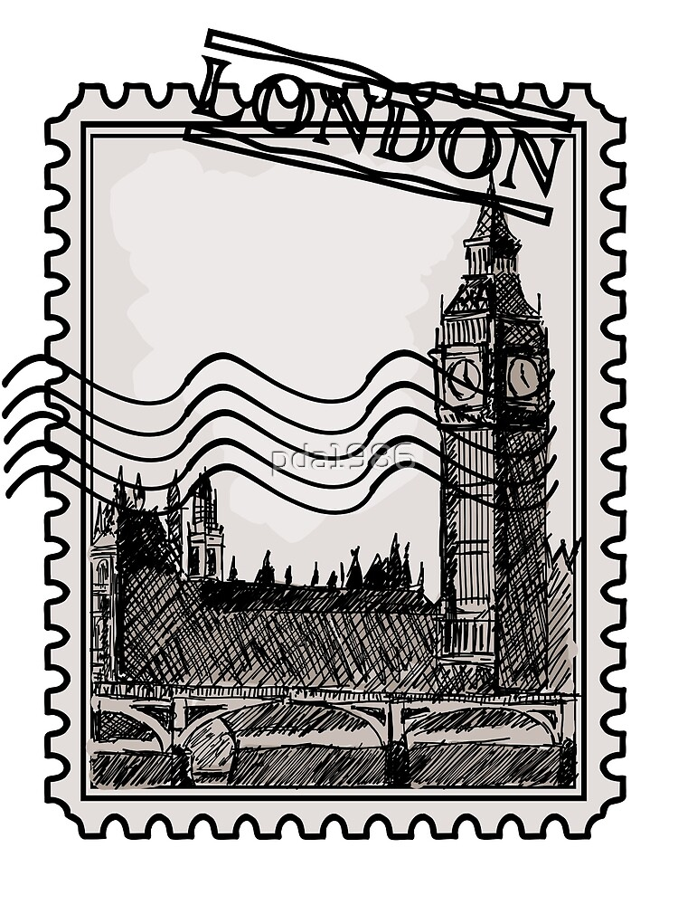 London Post Stamp by pda1986