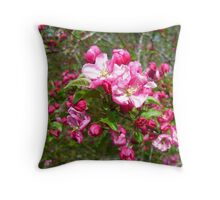 Crabapple Spring in Alabama Throw Pillow