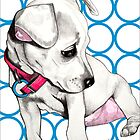 Retro Chi  Chihuahua puppy drawing by Nancy Daleo