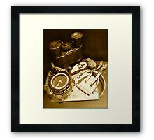 A Soldier's Campaign Momentoes Framed Print