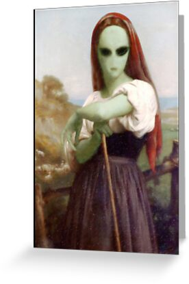 Alien Shepherdess by Gravityx9