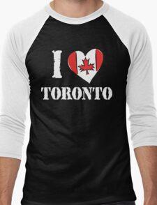 I Love Toronto Canada Men's Baseball ¾ T-Shirt