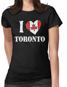I Love Toronto Canada Womens Fitted T-Shirt