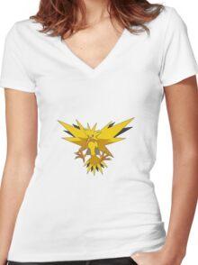Zapdos Pokemon Women's Fitted V-Neck T-Shirt