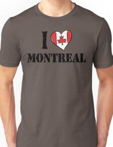 I Love Montreal Canada Unisex T-Shirt