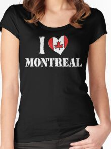 I Love Montreal Canada Women's Fitted Scoop T-Shirt