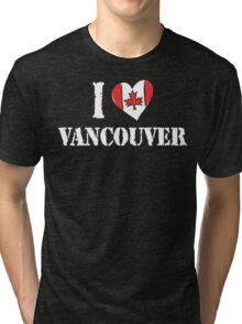 I Love Montreal Canada Tri-blend T-Shirt