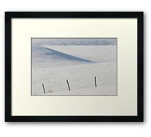 Winter day on the Prairies Framed Print