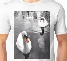 Swans on Tooting Common Unisex T-Shirt
