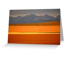 High Plains of Alberta with Rocky Mountains in distance Greeting Card
