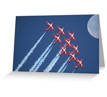 Snowbirds Aerobatics Team in flight Greeting Card