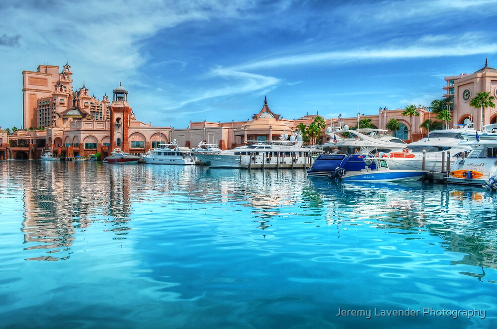 Marina and Atlantis Towers - Paradise Island, The Bahamas by Jeremy Lavender Photography