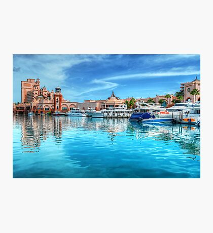 Marina and Atlantis Towers - Paradise Island, The Bahamas Photographic Print
