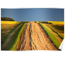 Beautiful colors along a Saskatchewan country road Poster