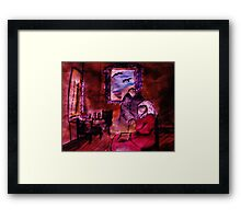 Her music study, my version, watercolor Framed Print