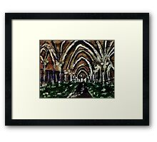 Arches glore,  watercolor Framed Print